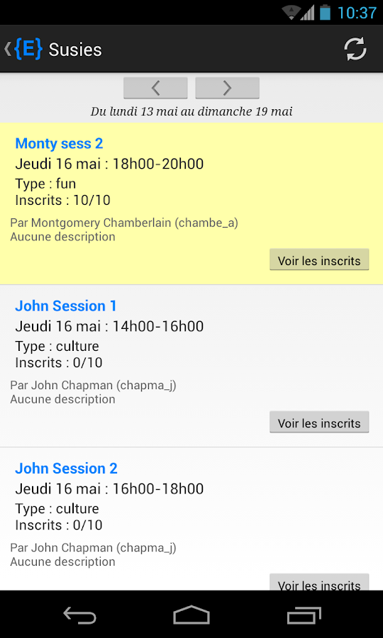 Intranet Epitech - screenshot