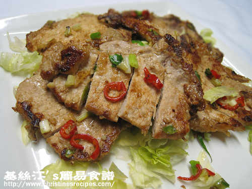 椒鹽豬扒 Pan-fried Pork Chops with Spicy Salt