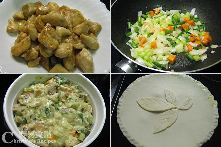 Chicken and Mushroom Pie Procedures