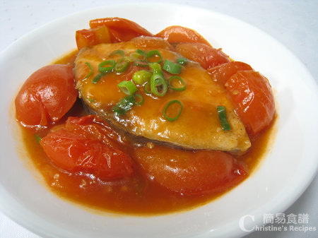 茄汁燴鮫魚 Fried Mackerel in Tomato Sauce