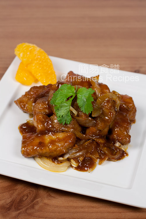 焦糖洋蔥燴香橙肉排 Orange Pork Ribs with Caramelized Onion01
