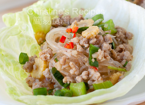 香辣肉鬆粉絲生菜包 Spicy Pork Mince and Noodles in Crisp Lettuce Cups02