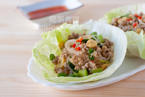 香辣肉鬆粉絲生菜包 Spicy Pork Mince and Noodles in Crisp Lettuce Cups03