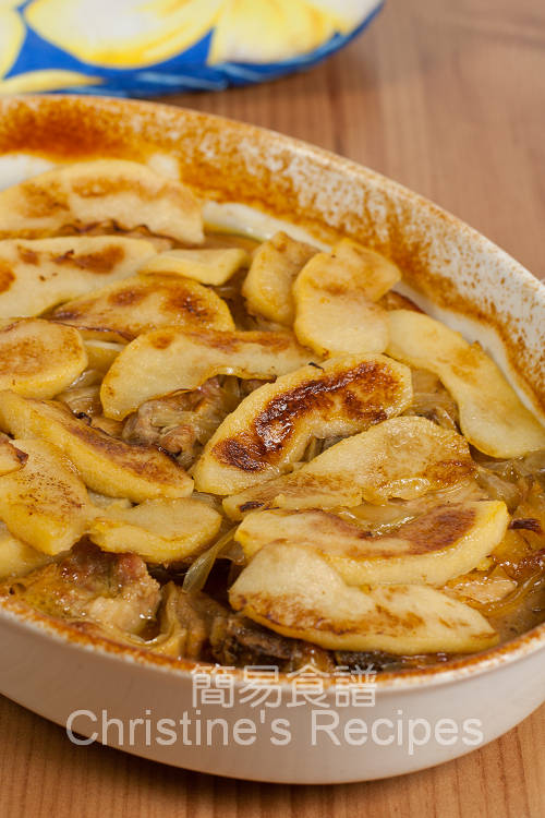 焗焦糖蘋果豬扒 Baked Pork Chops with Caramelized Apples01