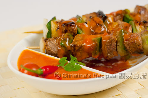 甜辣茄汁串燒牛仔粒 Grilled Veal with Spicy Tomato Sauce02