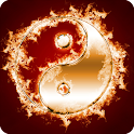 Ying Yang in Fire Parallax LWP icon