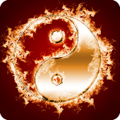 Ying Yang in Fire Parallax LWP