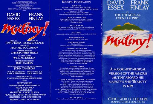 Stage Door Releases Original London Cast Recording of Mutiny!