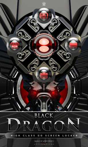 GO Locker Theme Black Dragon