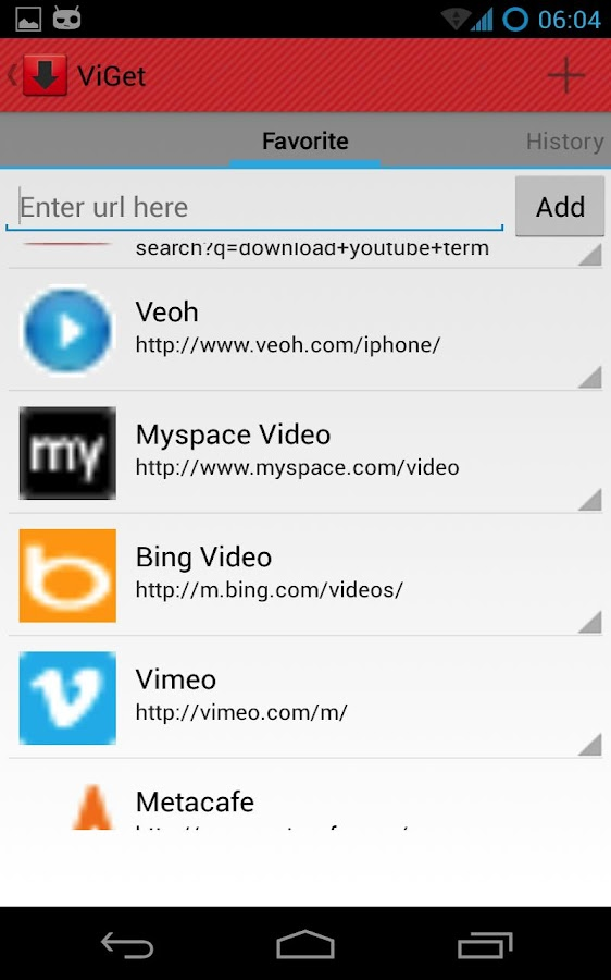 ViGet Video & File Downloader - screenshot