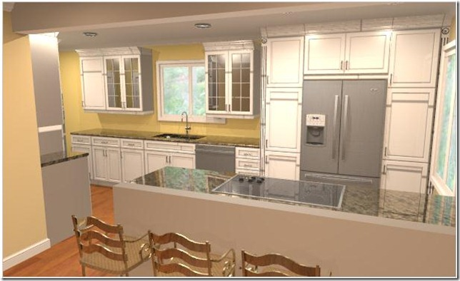 Kitchen Peninsula Without Cabinets