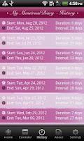 Screenshot of My Menstrual Diary
