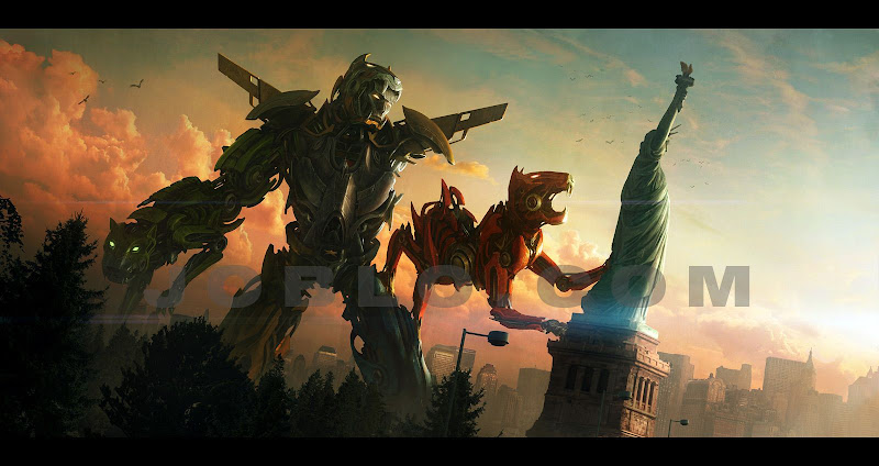 Concept arts de 'Voltron: Defender of the Universe'