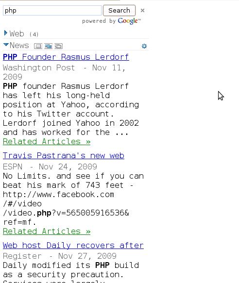 Google Ajax Search API – Description and Example