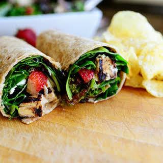 Grilled Chicken & Strawberry Salad Wrap.