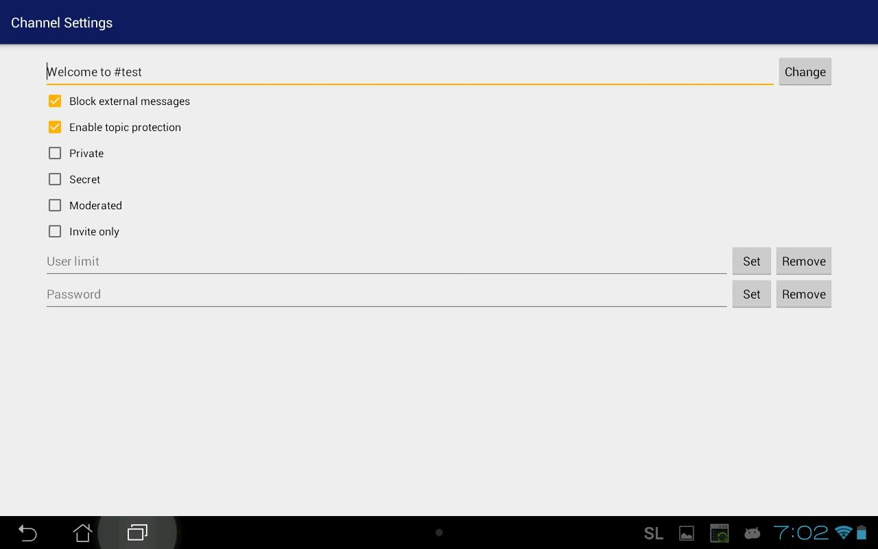 ScoutLink IRC- screenshot