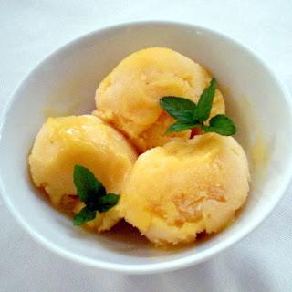 Mango Mint Sorbet.