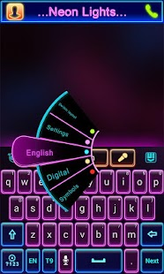 Neon Lights GO Keyboard Theme - screenshot thumbnail