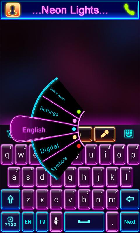 Neon Lights GO Keyboard Theme- screenshot