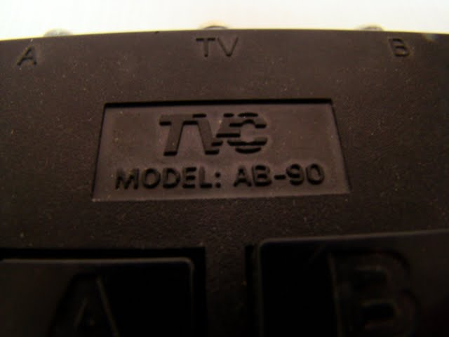 Tvc Ab 90 Cable Tv A B Switch Box Coaxial Wrnty Ebay