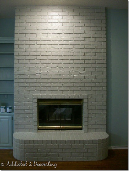A Painted Brick Fireplace A Winner And Addicts Not So