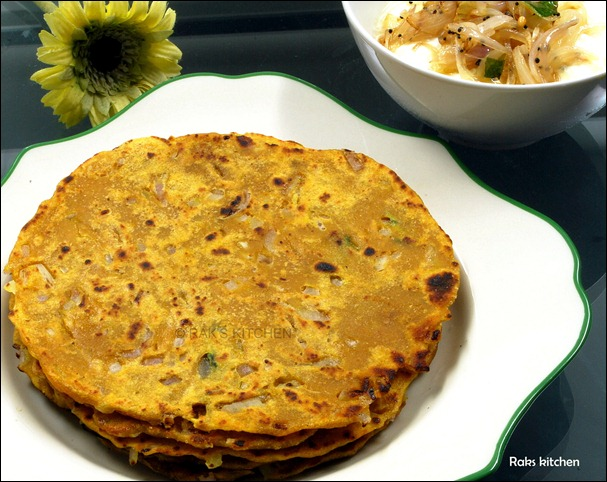 Godumai adai,with onion raita