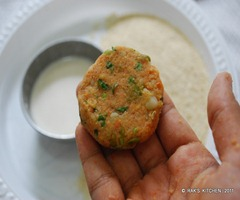 Vegetable cutlet prep4