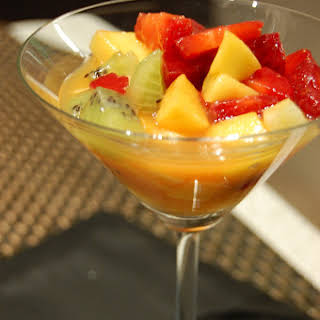 Mixed Fruits with Mango Juice.