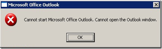 Cannot Open The Outlook Window >> My Knowledge Base It Cannot Start Microsoft Office Outlook