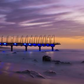 Umhlanga pier by Ian Damerell - Landscapes Beaches ( umhlanga, pier, sunrise, beach, morning,  )