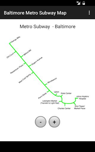 Baltimore Metro Subway Map