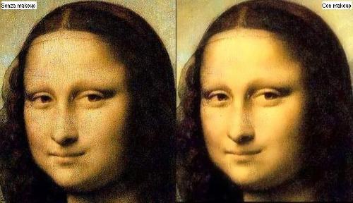 La Mona Lisa con e senza makeup