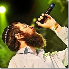 photo of Orthodox Jewish reggae artist Matisyahu