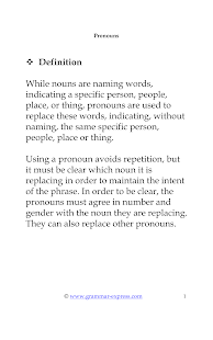 Grammar : Parts of Speech - screenshot thumbnail