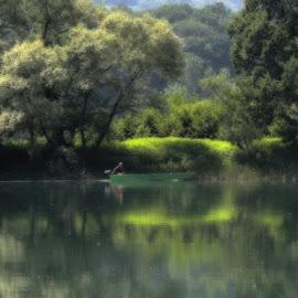 Drina, Velika Reka... by Olivera Prelevic Tanasic - Digital Art Places
