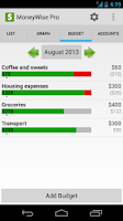 Screenshot of MoneyWise Pro