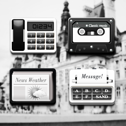 クラシック ブラック アトム アイコンパック 個人化 App LOGO-APP開箱王