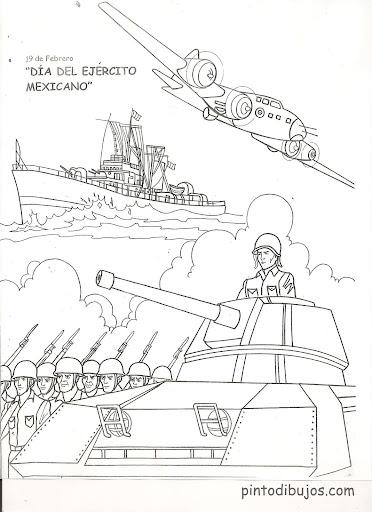 為孩子們的著色頁 Army Day Coloring Pages