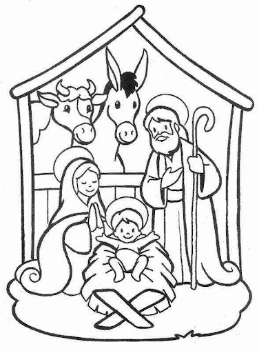 Nativity scene, christmas, coloring pages | Coloring Pages
