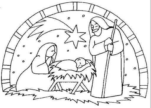 nativity scene christmas coloring pages. Black Bedroom Furniture Sets. Home Design Ideas