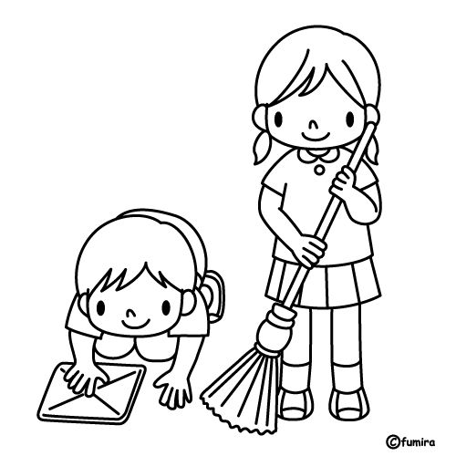 house cleaning coloring pages | Cleaning, free coloring pages | Coloring Pages