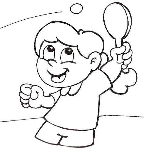 tennis and ping pong coloring pages