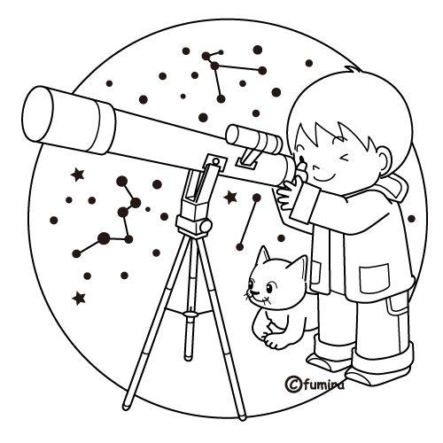 Niños observando para colorear - Imagui