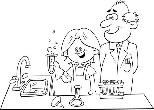 science lab coloring pages - photo#24