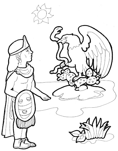 pinto dibujos  fundaci u00f3n de tenochtitl u00e1n para colorear