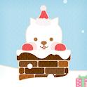 dog cute's winter Atom theme icon