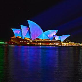 Vivid Sydney 2014 - Sydney Opera House  by Rita Jaber Youssef - Buildings & Architecture Public & Historical