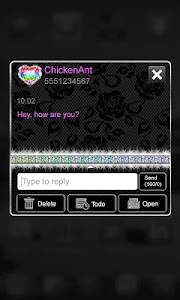 Rainbow Luxury Lace Theme SMS screenshot 1