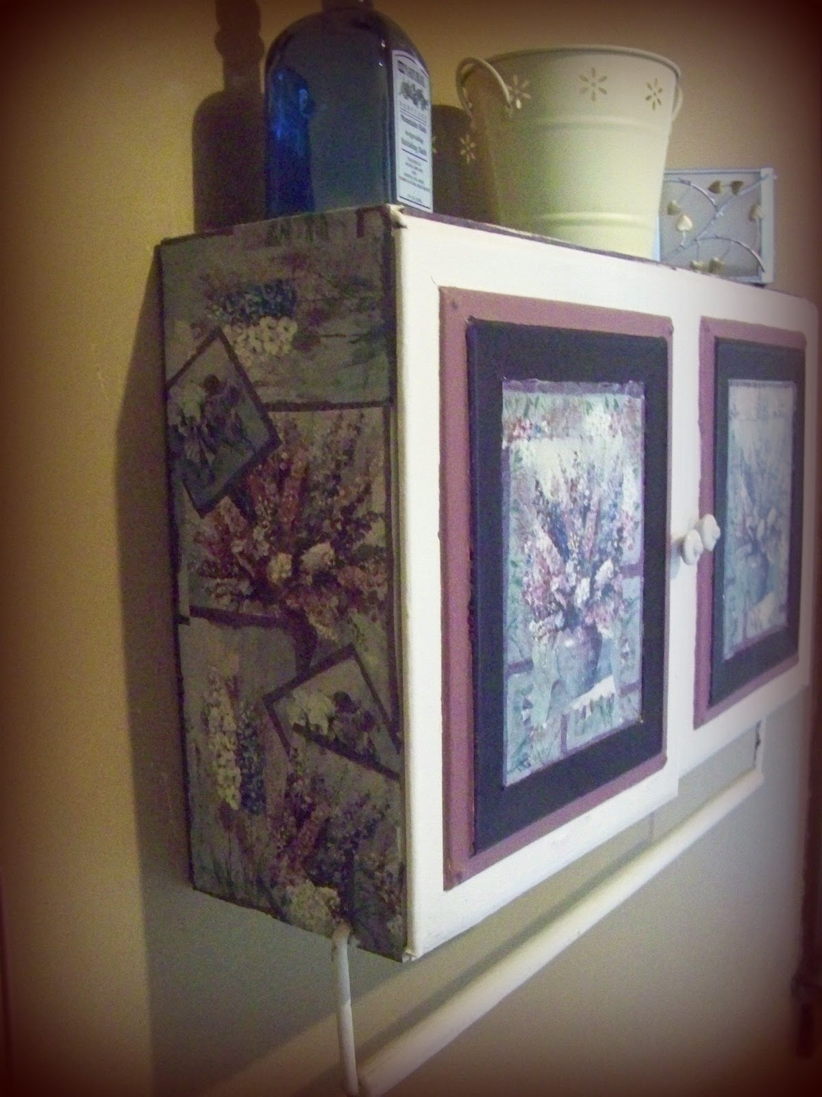 Trash to Treasure Decorating: steel Cabinet Makeover With Wallpaper - Decorating With Metal Cabinets