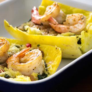 Spaghetti Squash, Pears and Kale with Shrimp Recipe